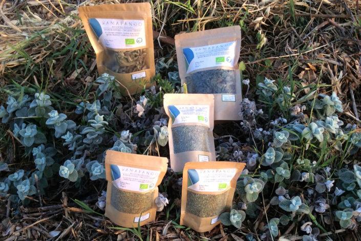 Μείγματα πιστοποιημένων βιολογικών αρωματικών φυτών για σαλάτες