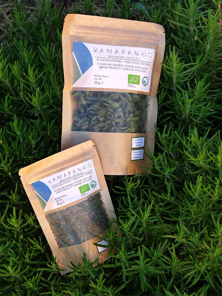 Organic Herbs from Paros Greece