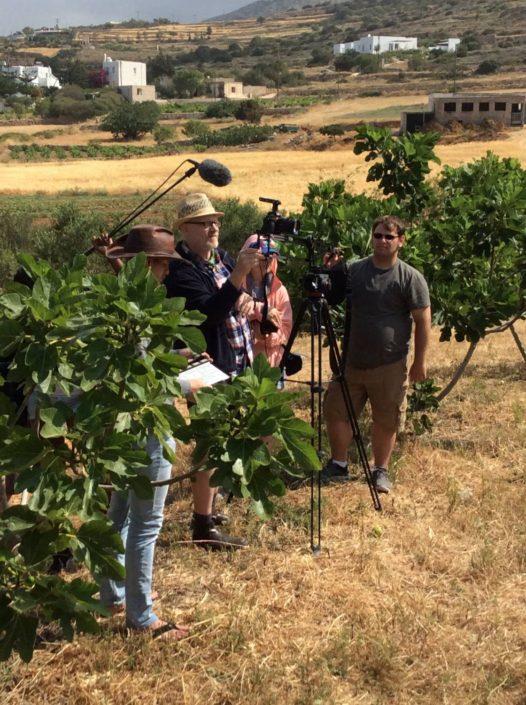2018: Γυρίσματα ντοκιμαντέρ για τη γεωργία στην Πάρο